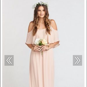 Show Me You Mumu Maxi Dress (dusty blush color)